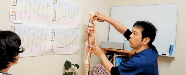 肋間神経痛を説明している様子